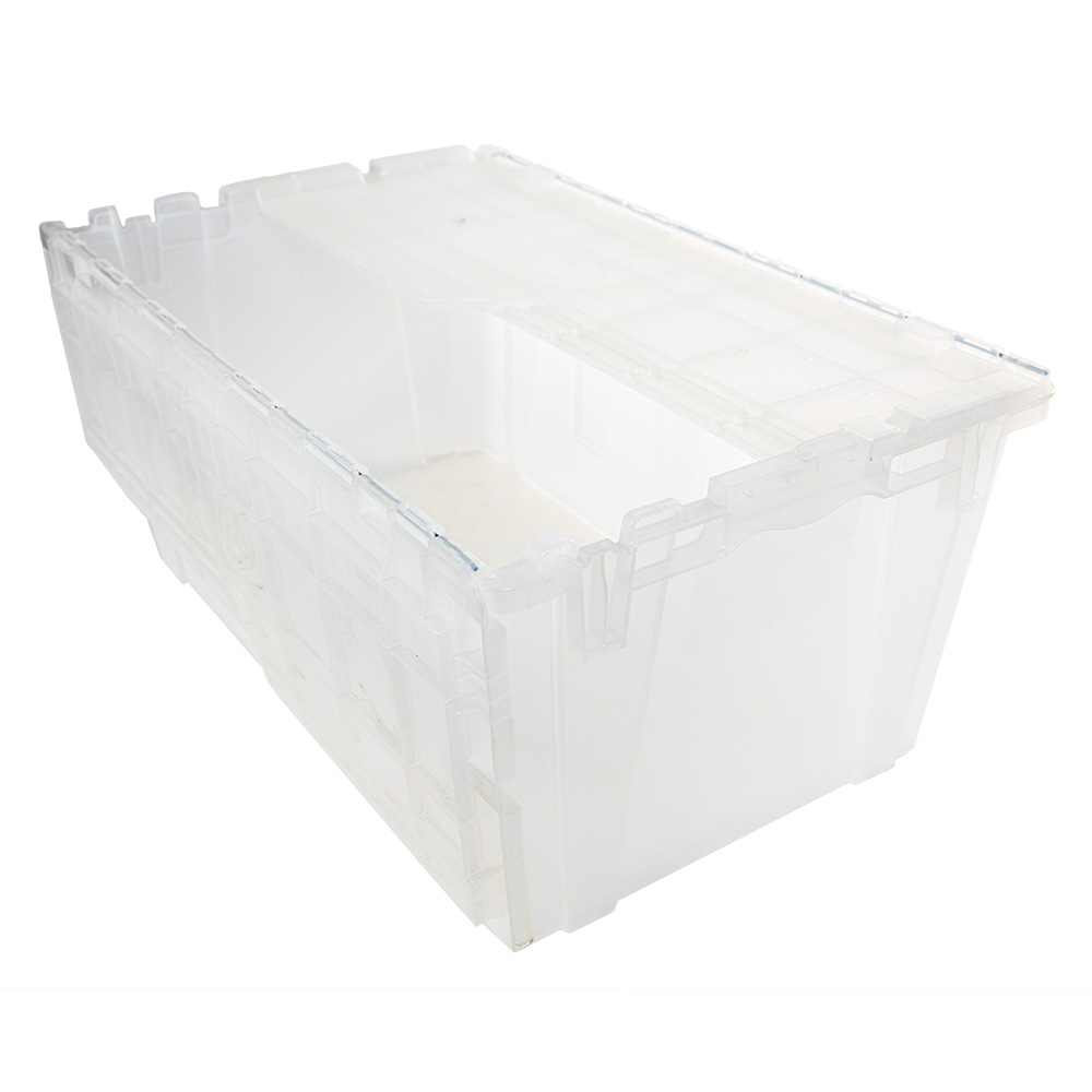 """2.4 Cu. Ft. FliPak® Clear Polypropylene Shipping Container - 27"""" L x 17"""" W x 12"""" H"""