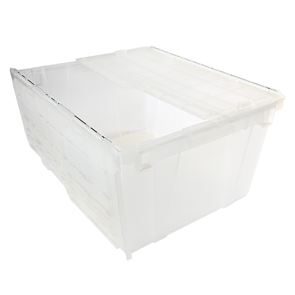 "2.7 Cu. Ft. FliPak® Clear Polypropylene Shipping Container - 23.9"" L x 19.6"" W x 12.6"" H"