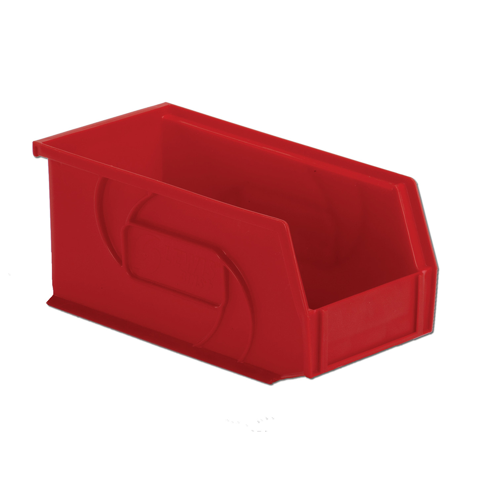 "10-7/8"" L x 5-1/2"" W x 5"" Hgt. Red Hang & Stack Bin"