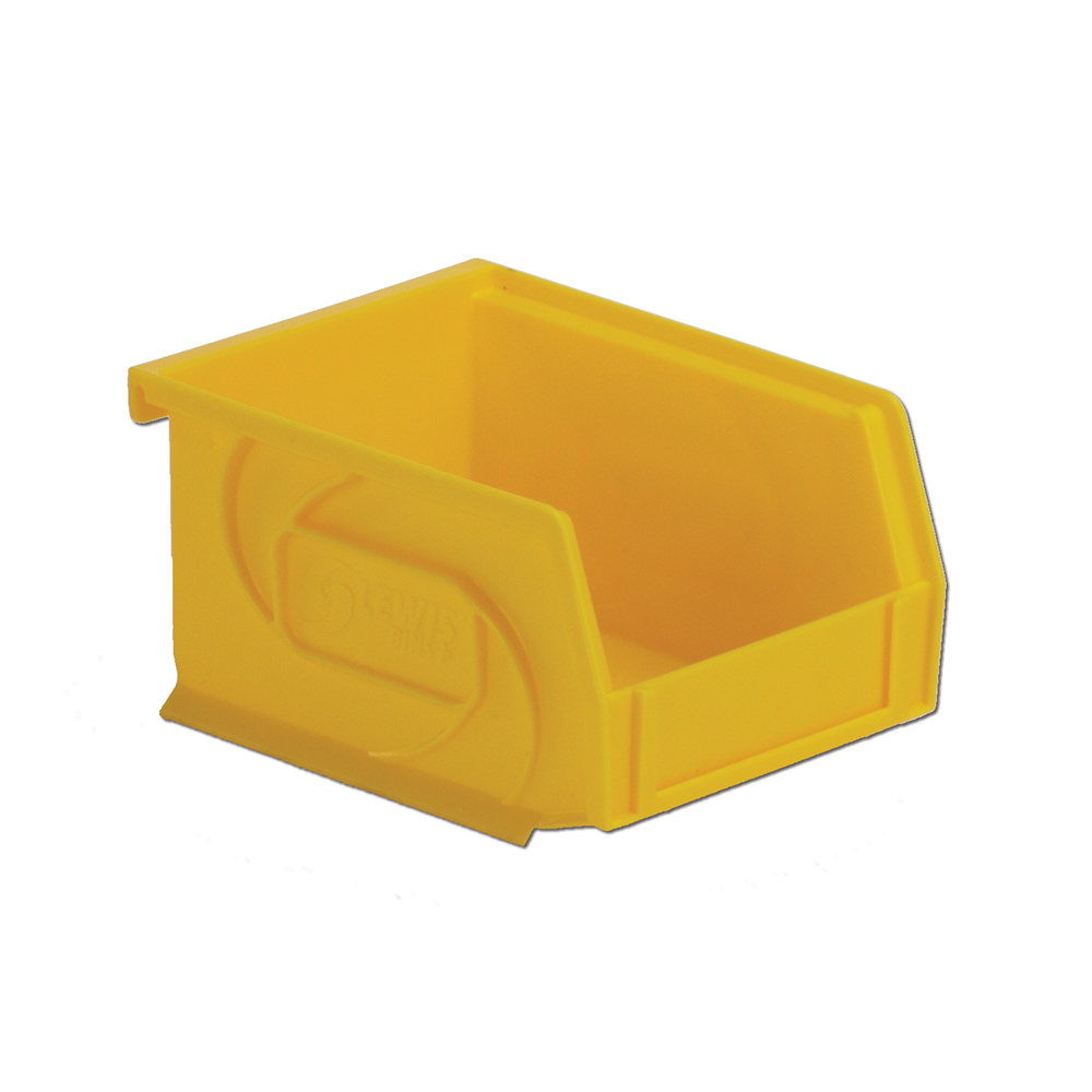"5-3/8"" L x 4-1/8"" W x 3"" Hgt. Yellow Hang & Stack Bin"