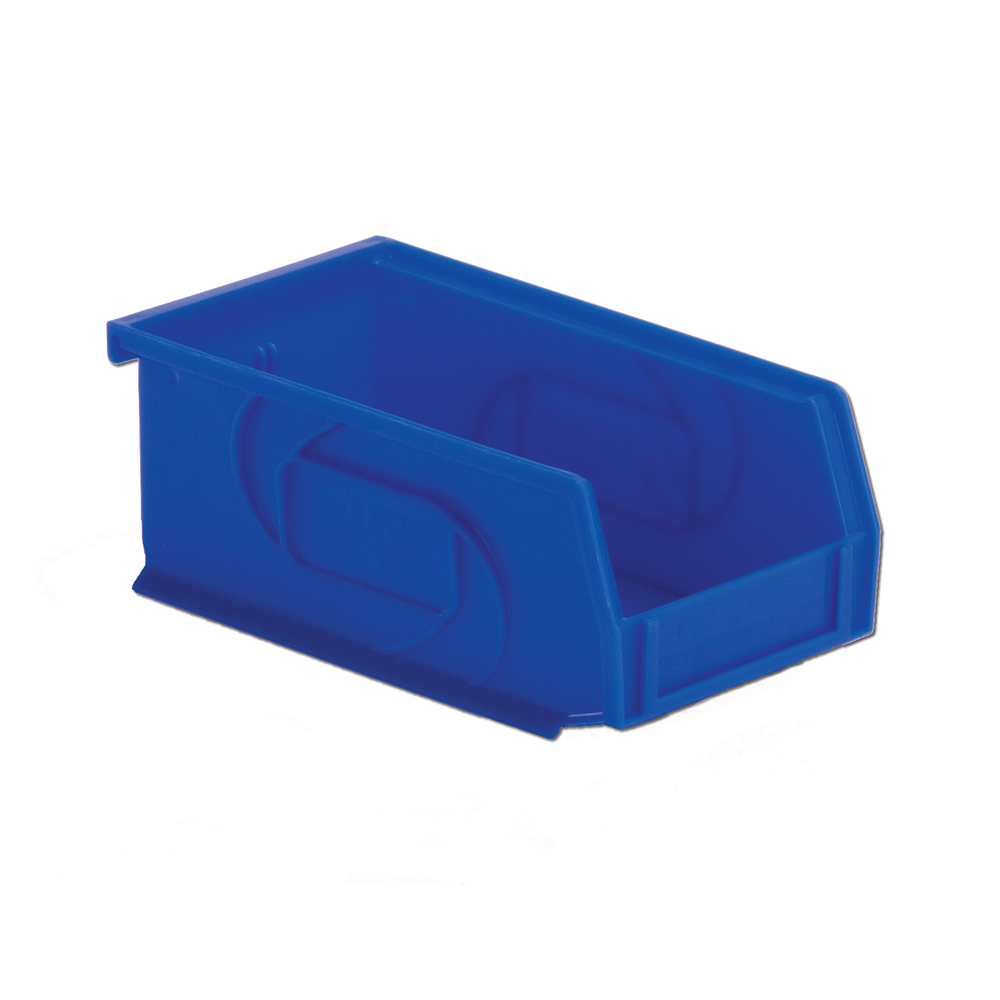 "7-3/8"" L x 4-1/8"" W x 3"" Hgt. Blue Hang & Stack Bin"
