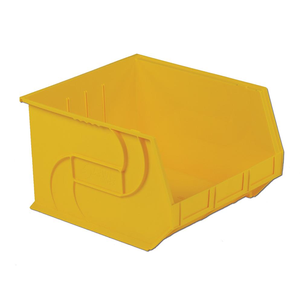 "18"" L x 16-1/2"" W x 11"" Hgt. Yellow Hang & Stack Bin"