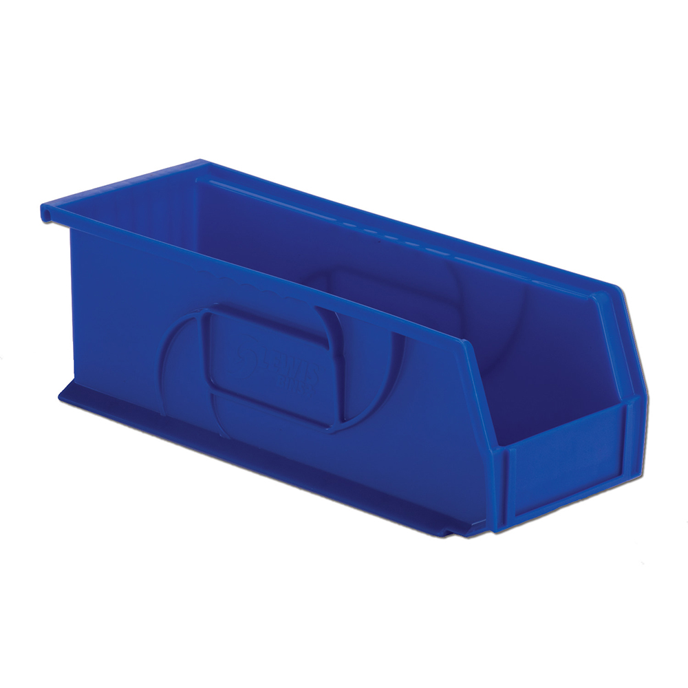 "14-3/4"" L x 5-1/2"" W x 5"" Hgt. Blue Hang & Stack Bin"