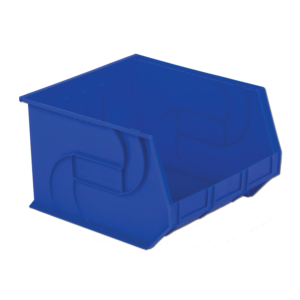 "18"" L x 16-1/2"" W x 11"" Hgt. Blue Hang & Stack Bin"