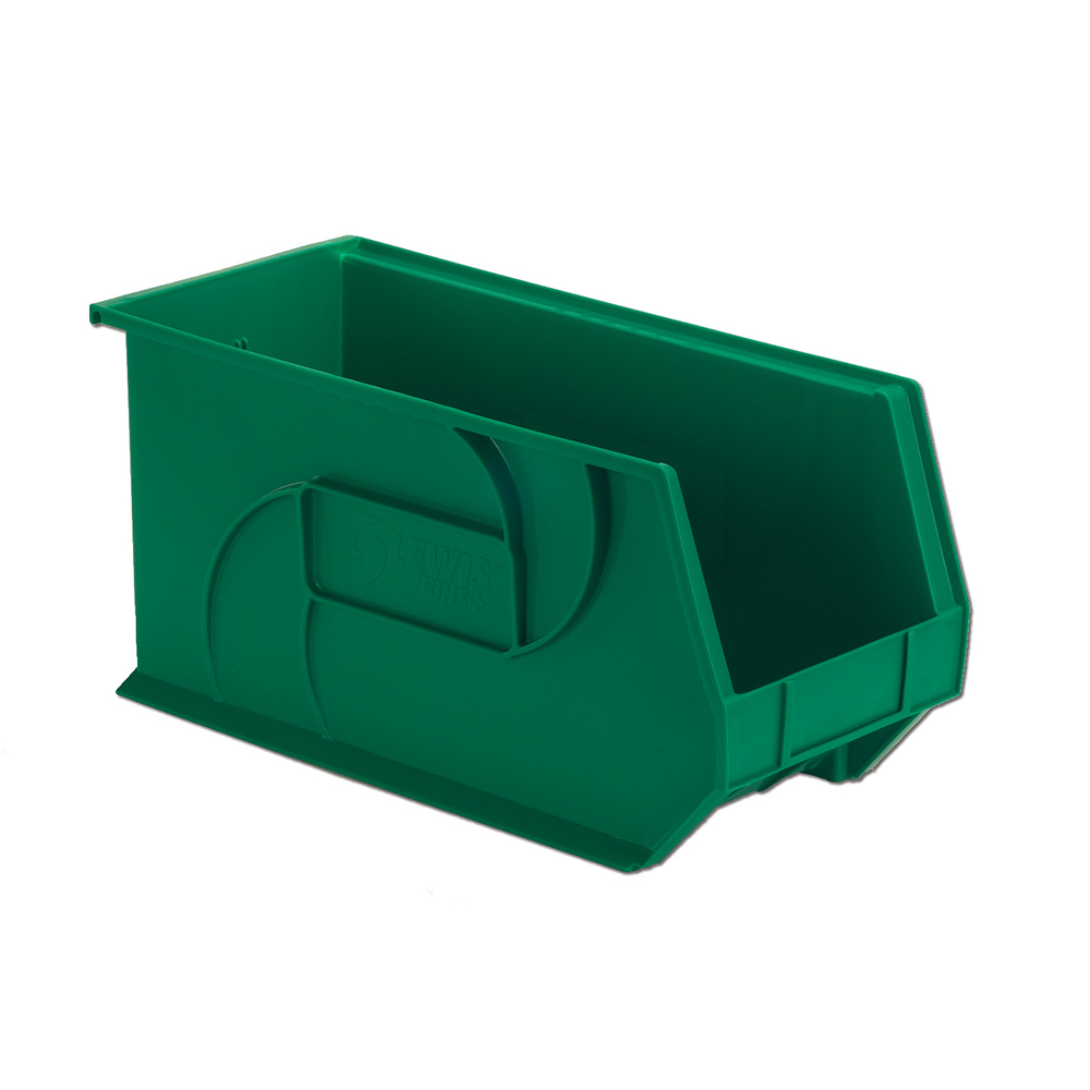 "18"" L x 8-1/4"" W x 9"" Hgt. Green Hang & Stack Bin"