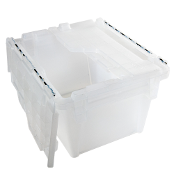 ".3 Cu. Ft. FliPak® Clear Polypropylene Shipping Container - 11-4/5"" L x 9-4/5"" W x 7-7/10"" H"