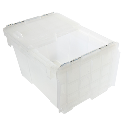 ".6 Cu. Ft. FliPak® Clear Polypropylene Shipping Container - 15-1/5"" L x 10-9/10"" W x 9-7/10"" H"