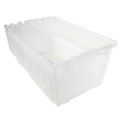 "2.4 Cu. Ft. FliPak® Clear Polypropylene Shipping Container - 27"" L x 17"" W x 12"" H"