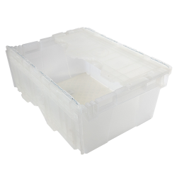 "1.4 Cu. Ft. FliPak® Clear Polypropylene Shipping Container - 21-9/10"" L x 15-1/5"" W x 9-3/10"" H"