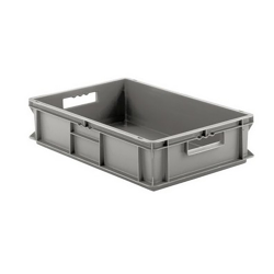 """24"""" L x 16"""" W x 5"""" Hgt. Gray Container w/Solid Sides & Base"""