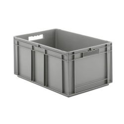 """24"""" L x 16"""" W x 12-1/2"""" Hgt. Gray Container w/Solid Sides & Base"""