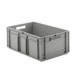 """24"""" L x 16"""" W x 16-1/2"""" Hgt. Gray  Container w/Solid Sides & Base"""