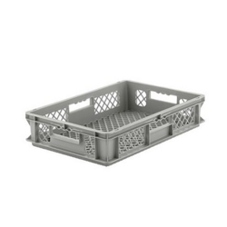 """24"""" L x 16"""" W x 5"""" Hgt. Gray Container w/Mesh Sides & Base"""