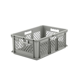 """24"""" L x 16"""" W x 8-1/2"""" Hgt. Gray  Container w/Mesh Sides & Base"""