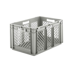 """24"""" L x 16"""" W x 12-1/2"""" Hgt. Gray  Container w/Mesh Sides & Base"""