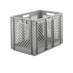 """24"""" L x 16"""" W x 16-1/2"""" Hgt. Gray Container w/Mesh Sides & Base"""