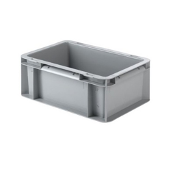 """12"""" L x 8"""" W x 4-1/2"""" Hgt. Gray Container w/Solid Sides & Base"""