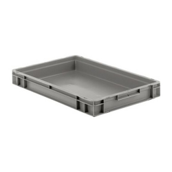 """24"""" L x 16"""" W x 3"""" Hgt. Gray Container w/Solid Sides & Base"""