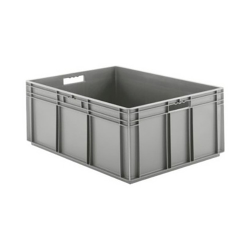 """32"""" L x 24"""" W x 12-1/2"""" Hgt. Gray Container w/Solid Sides & Base"""