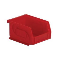 "5-3/8"" L x 4-1/8"" W x 3"" Hgt. Red Hang & Stack Bin"