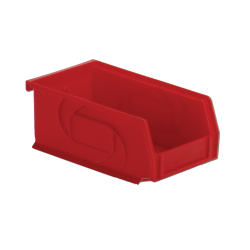 "7-3/8"" L x 4-1/8"" W x 3"" Hgt. Red Hang & Stack Bin"