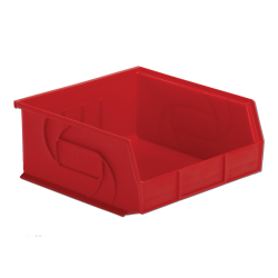 "10-7/8"" L x 11"" W x 5"" Hgt. Red Hang & Stack Bin"