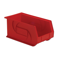 "14-3/4"" L x 8-1/4"" W x 7"" Hgt. Red Hang & Stack Bin"