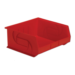 "14-3/4"" L x 16-1/2"" W x 7"" Hgt. Red Hang & Stack Bin"