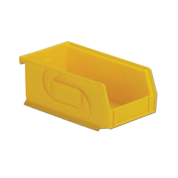 "7-3/8"" L x 4-1/8"" W x 3"" Hgt. Yellow Hang & Stack Bin"