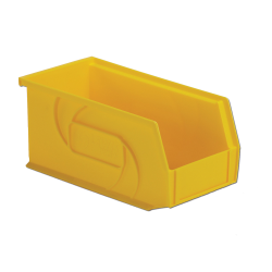 "10-7/8"" L x 5-1/2"" W x 5"" Hgt. Yellow Hang & Stack Bin"