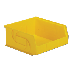 "10-7/8"" L x 11"" W x 5"" Hgt. Yellow Hang & Stack Bin"