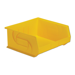 "14-3/4"" L x 16-1/2"" W x 7"" Hgt. Yellow Hang & Stack Bin"