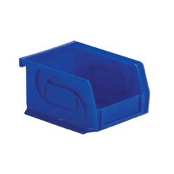 "5-3/8"" L x 4-1/8"" W x 3"" Hgt. Blue Hang & Stack Bin"