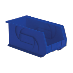 "14-3/4"" L x 8-1/4"" W x 7"" Hgt. Blue Hang & Stack Bin"