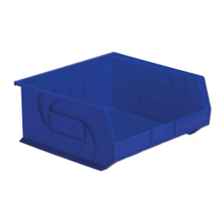 "14-3/4"" L x 16-1/2"" W x 7"" Hgt. Blue Hang & Stack Bin"