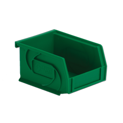 "5-3/8"" L x 4-1/8"" W x 3"" Hgt. Green Hang & Stack Bin"