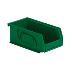 "7-3/8"" L x 4-1/8"" W x 3"" Hgt. Green Hang & Stack Bin"