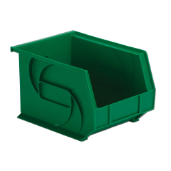 "10-3/4"" L x 8-1/4"" W x 7"" Hgt. Green Hang & Stack Bin"