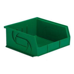 "10-7/8"" L x 11"" W x 5"" Hgt. Green Hang & Stack Bin"