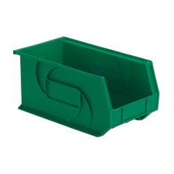 "14-3/4"" L x 8-1/4"" W x 7"" Hgt. Green Hang & Stack Bin"
