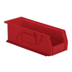 "14-3/4"" L x 5-1/2"" W x 5"" Hgt. Red Hang & Stack Bin"