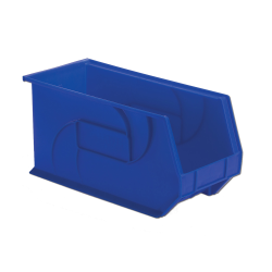 "18"" L x 8-1/4"" W x 9"" Hgt. Blue Hang & Stack Bin"