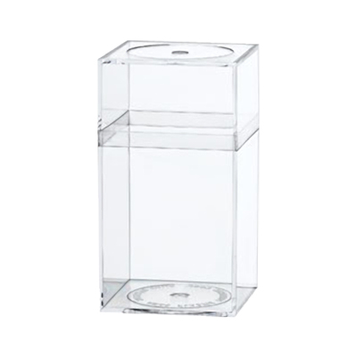 "Clear Plastic Box with Removable Lid 2-5/16"" x 2-5/16"" x 4-3/16"""