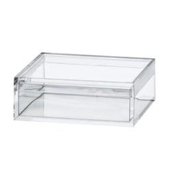 "Clear Plastic Box with Removable Lid 2"" x 2"" x 3/4"""