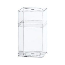 "Clear Plastic Box with Removable Lid 2-5/16"" L x 2-5/16"" W x 4-3/16"" Hgt."