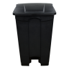 black step-on trash can