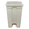 natural step-on trash can