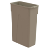 23 Gallon Beige Slim Container