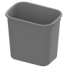 28 Quart Gray Wastebasket