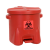10 Gallon Red Eagle Safety Biohazardous Waste Can